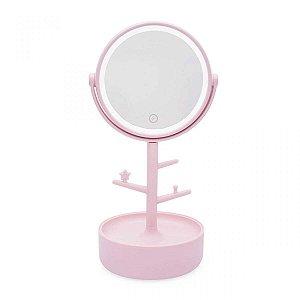 Espelho led com porta bijoux - Taciele