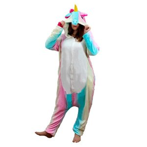 Pijama macacão - Unicórnio colorido