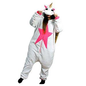Pijama macacão com asas - Unicórnio