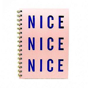 Caderno rosa Nice