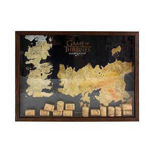 Quadro de rolhas mapa - Game of Thrones