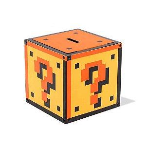 Cofre metálico caixa misteriosa - Super Mario