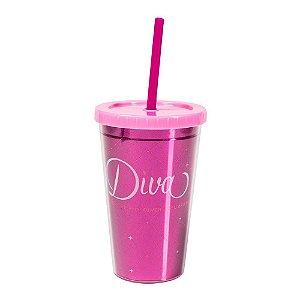 Mini copo canudo - Diva