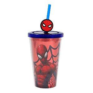 Copo canudo Homem Aranha - Marvel