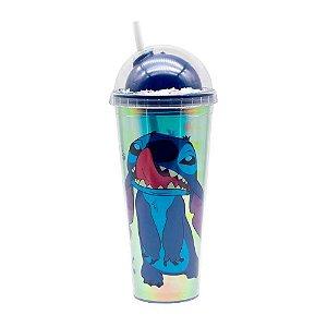 Copo canudo holográfico - Stitch Disney