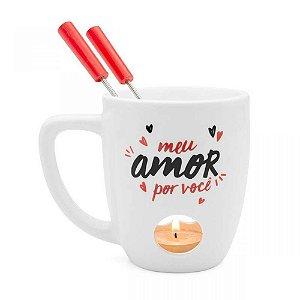 Caneca fondue - Amor é tudo