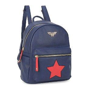 Bolsa mochila star azul - Mulher Maravilha