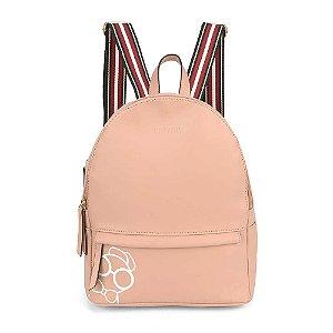 Bolsa mochila rose com alça listradas