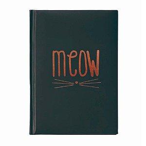 Caderno brochura preto Gato Meow
