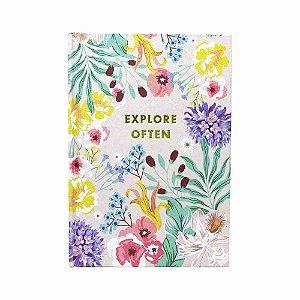 Caderno floral Explore