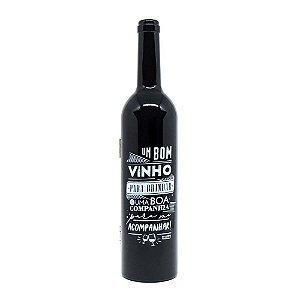 Kit vinho Garrafa brilho