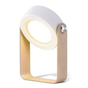 Luminária de mesa retrátil Branca 3 em 1