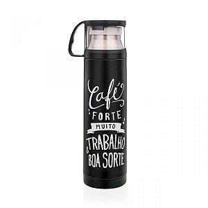 Garrafa térmica com caneca Café Forte