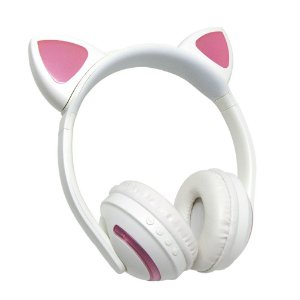 Headphone com led - Gatinha