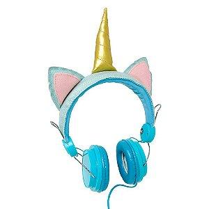 Headphone com fio - Unicórnio