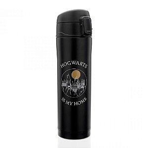 Garrafa térmica com botão Hogwarts - Harry Potter