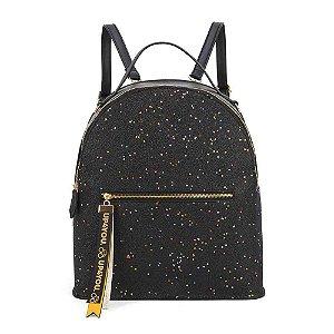 Bolsa mochila preta Estrelada