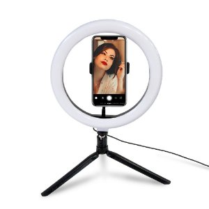 Iluminador Ring Light LED com tripé