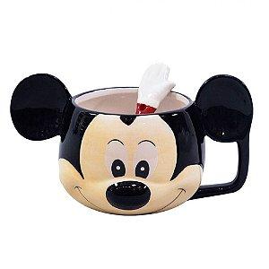 Caneca com colher - Mickey Mouse