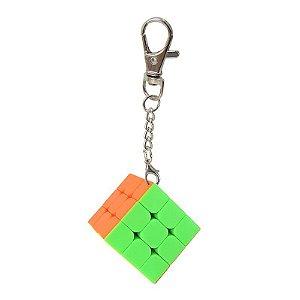 Cubo Mágico Chaveiro Divertido Anti-stress Stickersles