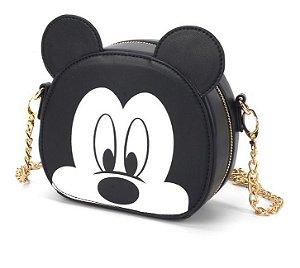 Bolsa transversal alça corrente olhinhos - Mickey Mouse