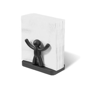 Porta guardanapo Preto Buddy - Umbra Design