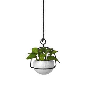 Vaso de plantas branco nesta - Umbra Design