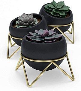 Conjunto com 3 vasos de planta Potsy - Umbra Design