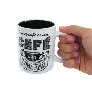 Caneca porcelana Espresso coffee I will drink