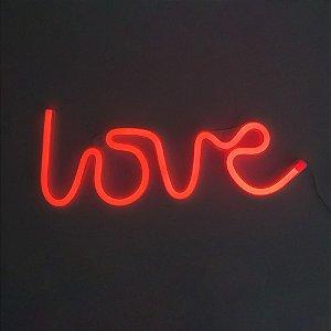 Luminária love neon parede
