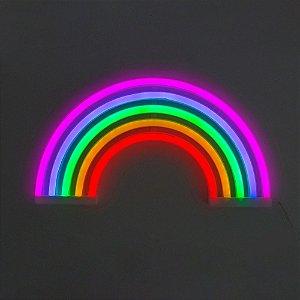 Luminária arco iris neon