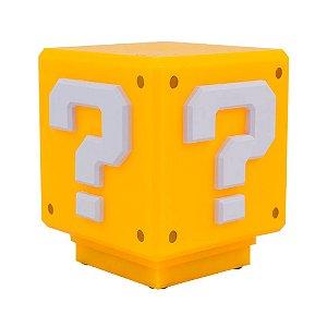 Luminária bloco - Super Mario