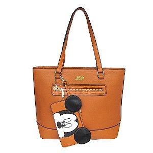 Bolsa de ombro com necessaire - Mickey Mouse