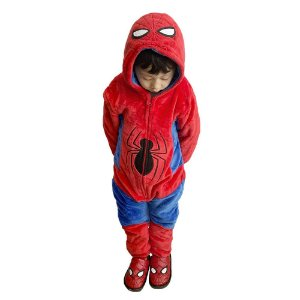 Pijama Macacão kigurumi infantil Spiderman - Marvel