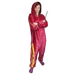 Pijama Macacão Kigurumi Grifinória - Harry Potter