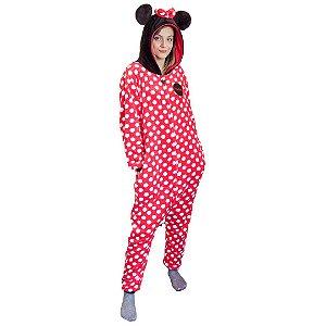 Pijama Macacão Kigurumi Minnie Mouse - Disney