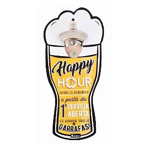 Abridor quadro - Copo Happy Hour