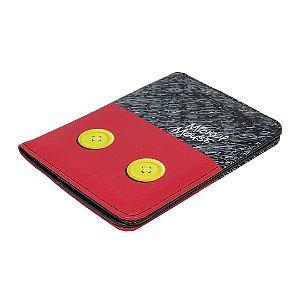 Porta passaporte botões - Mickey Mouse
