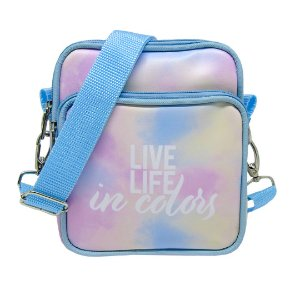 Bolsa Transversal Com Bolso Frontal Tie Dye - Live Life In Colors