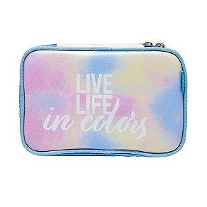 Estojo 100 Pens / Lápis Tie Dye - Live Life In Colors