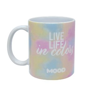 Caneca Reta 330ml Tie Dye - Live Life In Colors