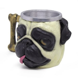 Caneca Formato 3D 250ml Cachorro Pug