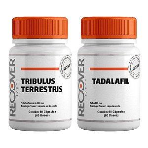 Kit com Tribulus Terrestris 500mg + Tadalafil 5mg