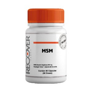 MSM Enxofre Orgânico 400mg - 60 Cápsulas (60 Doses)