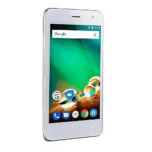 Smartphone MS45 4G 1GB Multilaser NB721 Dourado Tela 4.5 Pol