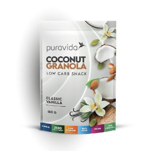 Coconut Granola Classic Vanilha, 180g, Puravida