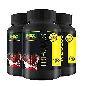 Kit 3x Tribulus Terrestris Puro 700mg 63% 150 Capsulas