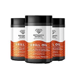 Kit 3x Krill Oil Fonte Sustentável De Ômega 3, Bothanica