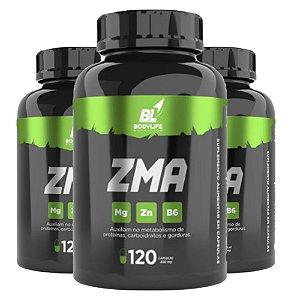 Kit 3x ZMA bodylife (Magnésio, Zinco e B6)