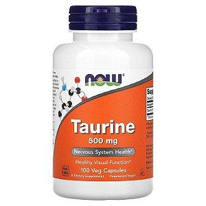 Taurina, Now Foods, 500 mg, 100 Cápsulas, Importado